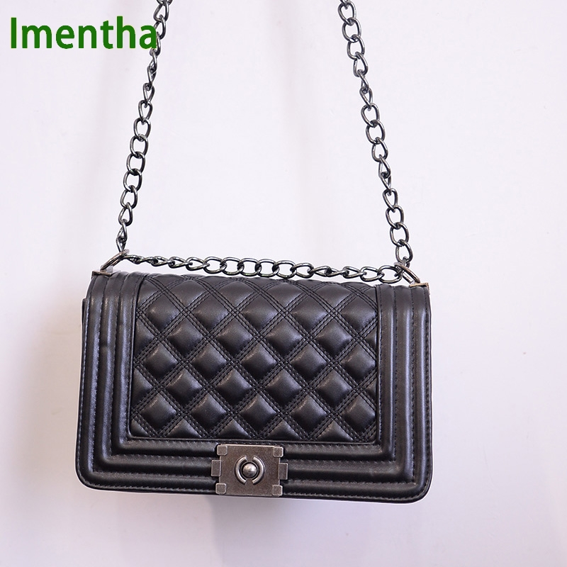 High Quality Ladies Quilted Plaid Chain bag women Shoulder bags female lady Crossbody Bags sac a main jollque black women shoulder bag female crossbody chain bag plaid handbag quilted sac a main femme pu leather messenger bag