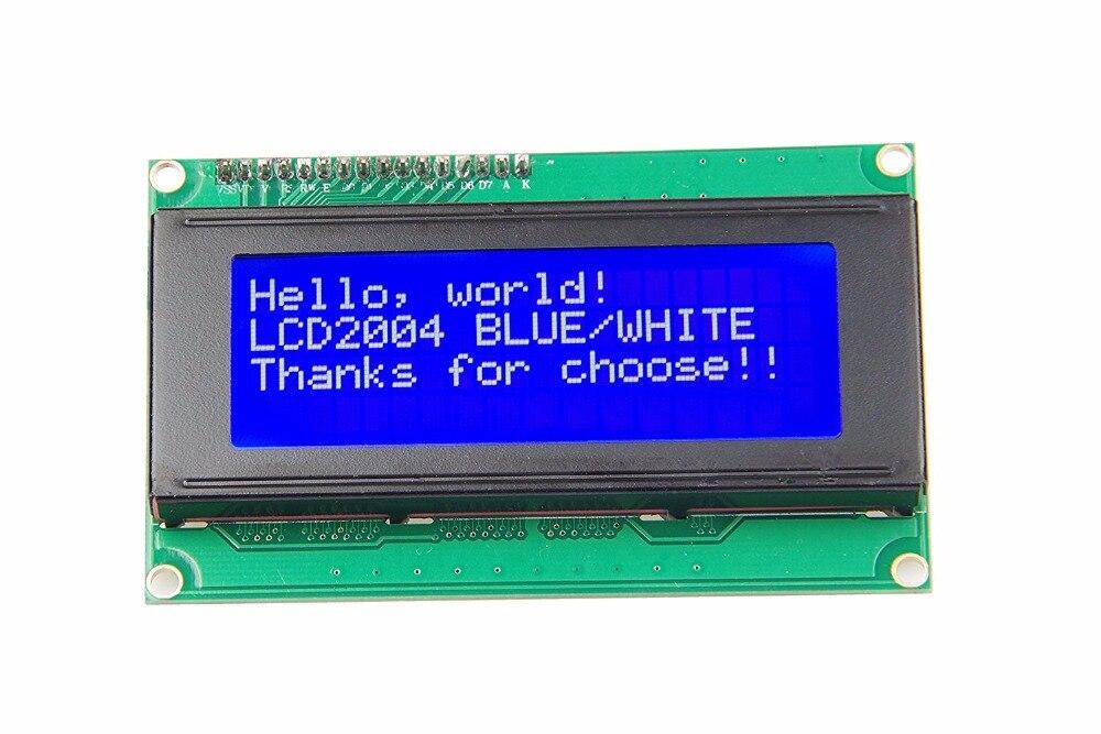 Новый 20x4 символ ЖК-модуль 2004 символ ЖК-дисплей 5 в серийный IIC/I2C/TWI для Arduino UNO R3 MEGA2560 Nano