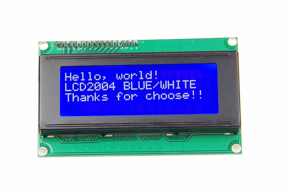 New 20x4 Character LCD Module 2004 Character LCD Display 5V Serial  IIC/I2C/TWI For Arduino UNO R3
