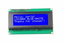 Free Shipping 20x4 Character LCD Module 2004 Character LCD Display 5V Serial IIC/I2C/TWI For Arduino UNO R3 MEGA2560 Nano все цены