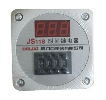 Gratis Pengiriman 100% Baru Asli Otentik Waktu Relay Tampilan Digital JS11S 0.01-999 H 999H AC220V sensor