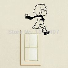 2pcs/Set Little Prince Light Switch Vinyl Sticker Cute Wall Decals For Home Decoration