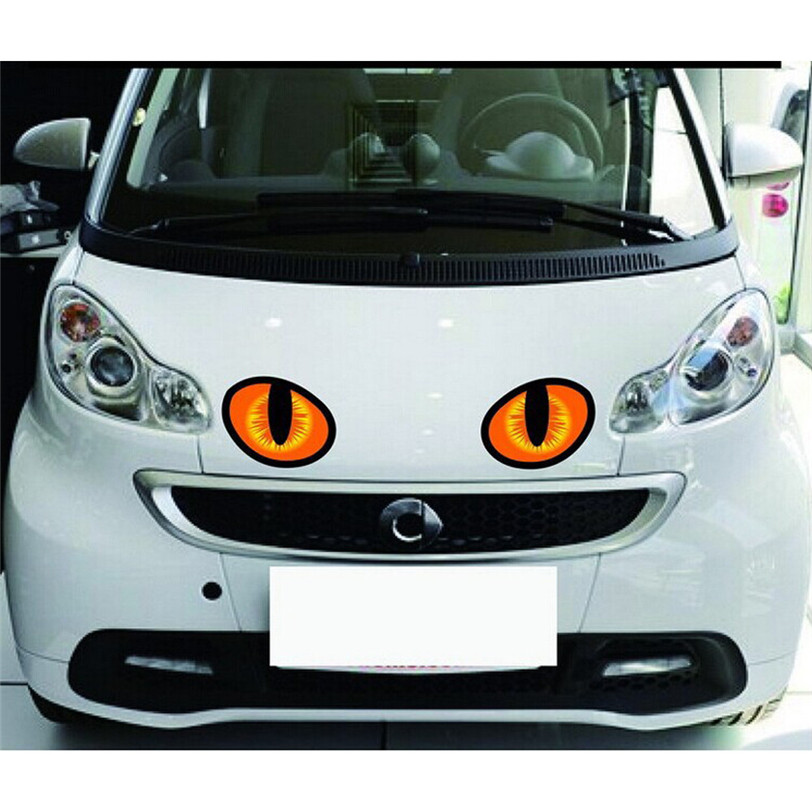 2017 Fashion Car Sticker Hot Sale 3D Simulation of the Cats eyes personalized funny mark Stickers car-styling stickers