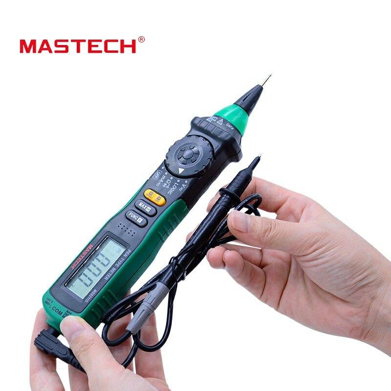 Mastech MS8211DS multímetro Digital tipo de pluma Auto de la gama de pantalla LCD DMM tensión probador del metro lógica la prueba de nivel de diagnóstico-Herramienta