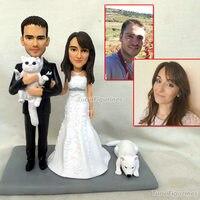 Подарки для свадьбы невеста жених торт Топпер индивидуальные с домашними животными смешно свадебный подарок персонализированные ручной р