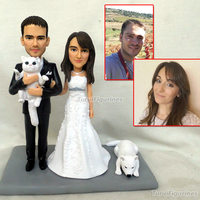 gifts for wedding bride groom cake topper customized with pets funny wedding gift personalized handmade present for girlfriend