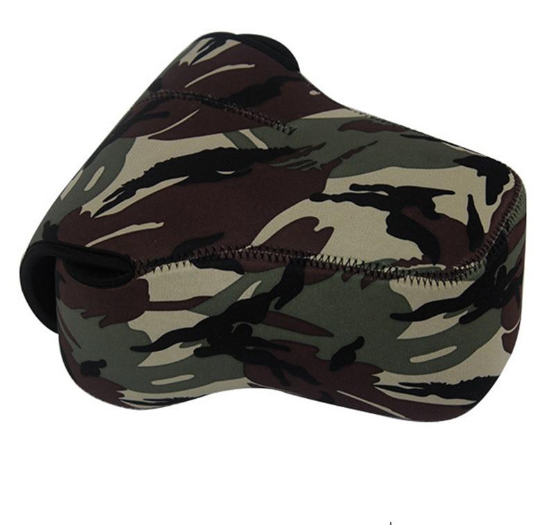 3 Models Camouflage Neoprene Soft Camera Inner Lens Case Pouch Bag for Canon Nikon Sony Fujifilm Pentax