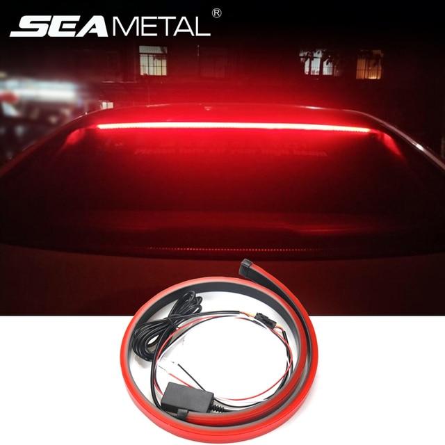 Car High Brake Lights 90cm Flexible LED Warning Signal Light Auto High Mount Brake Lights Stop Lamp Safety Driving Accessories