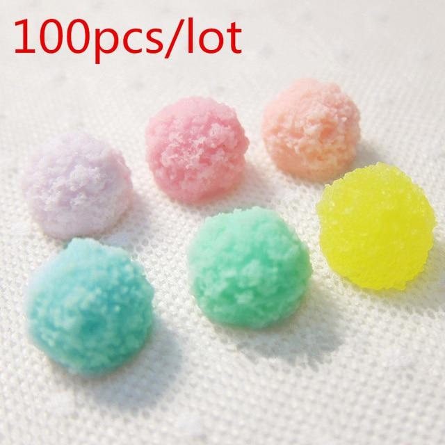 100pcs Wholesale Mixed Color Resin Simulation Food Pastel Confetti ...