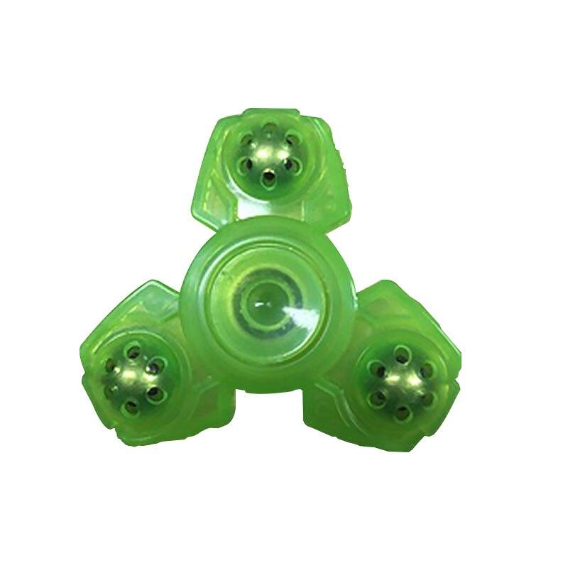 Luminous Fidget Spinner Spinning Top 6-Steel-Balls Hand Fidget Bearing Kids Adult Fidget Toys