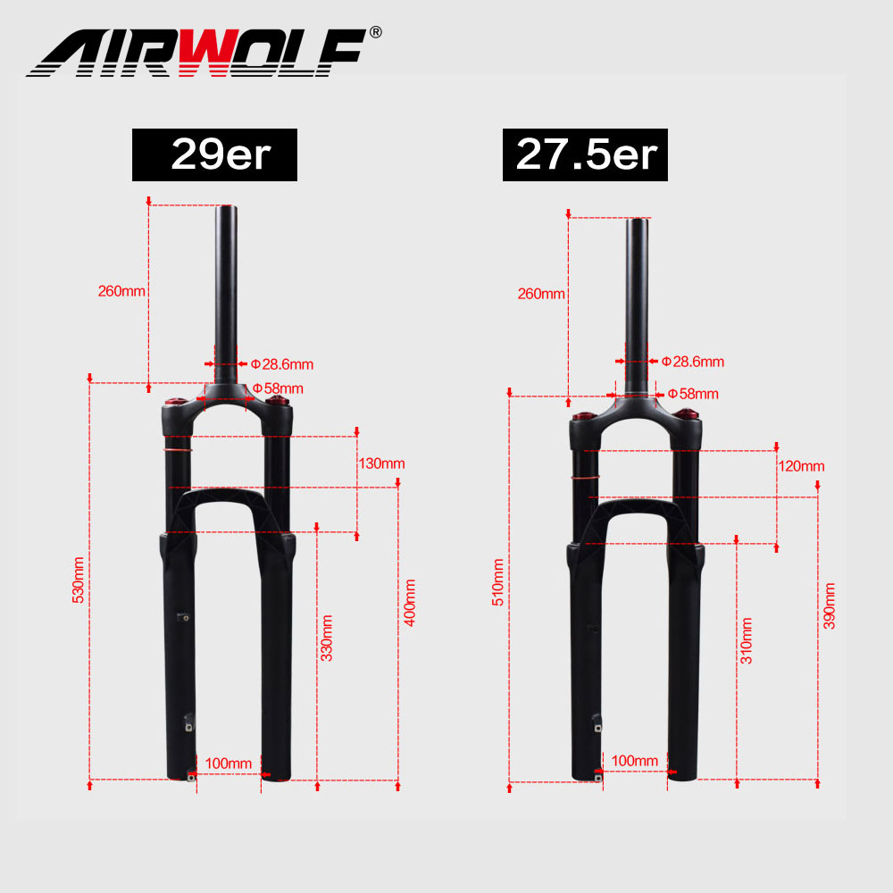 Airwolf Mountain Bike Parts Suspension Mtb Fork 120mm Travel Bicycle