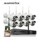 8 Channel CCTV Surveillance Kit 720P Security Camera System 8CH NVR Kit IP Camera Wireless Outdoor Waterproof CCTV DVR System