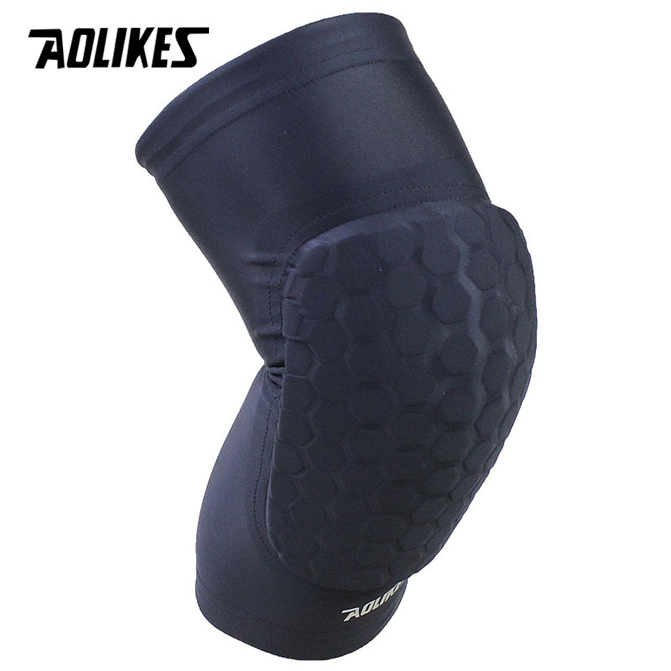 9071f61224 AOLIKES 1PCS Hex Sponge Protective Knee Pads Basketball Leg Sleeves  Compression Knee Braces Kneepads Sports Safety