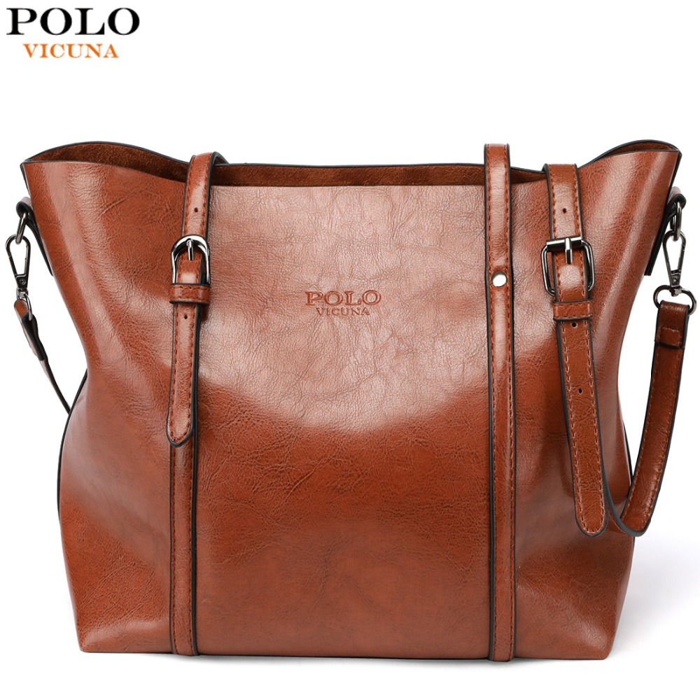 1ee79eb686 Detail Feedback Questions about VICUNA POLO Solid Multiple Color Classic  Leather Ladies Handbags Casual Female Large Totes High Quality Women  Crossbody Bags ...