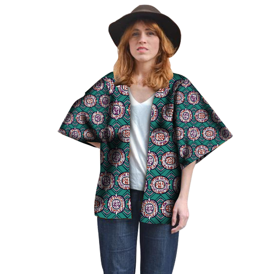 Fashion Women Shirt African Print Half Sleeve Tops Ladies Dashiki Clothes African Festive Shirts African Clothing Customized