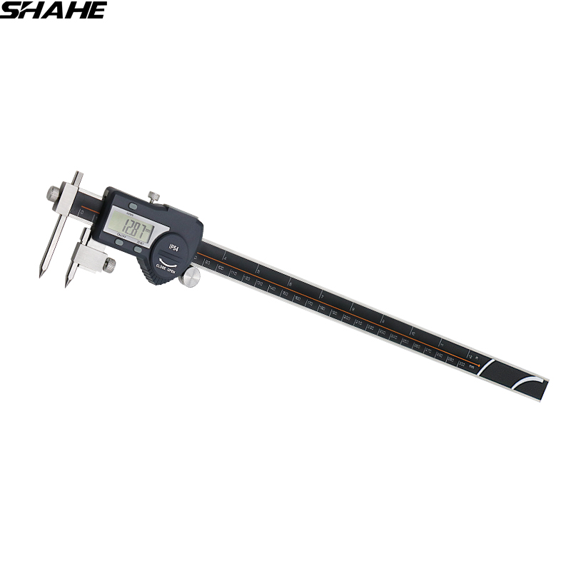 shahe 5-300 mm digital vernier caliper digital center distance gauge vernier caliper 300mm electronic ruler measuring tools digital diai gem caliper measures from 0 12 7 mm 0 5 by 0 01 mm 0 0005 goldsmith tool caliper jewelry measurement tools