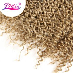 "Image 4 - Lydia Bohemian Freetress Haarverlenging Gehaakte Vlecht Haar 14 ""3 STKS Pure Kleur Kanekalon Bulk Synthetische Vlechten Haar Afro Kinky"