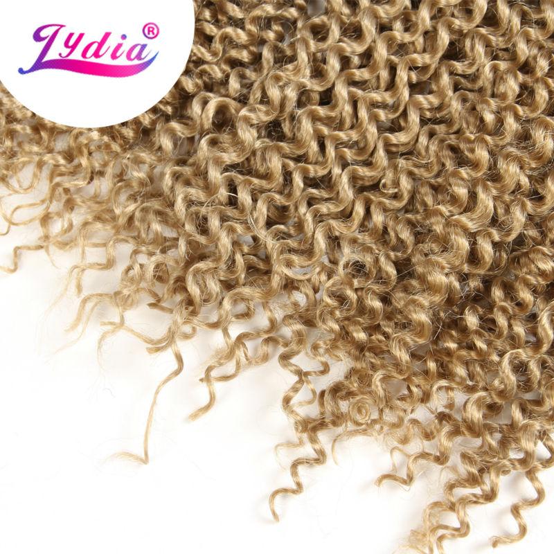"Image 4 - Lydia Bohemian Freetress Hair Extension Crochet Braid Hair 14"" 3PCS Pure Color Kanekalon Bulk Synthetic Braiding Hair Afro Kinkykinky afrokinky afro hairkinky kanekalon -"