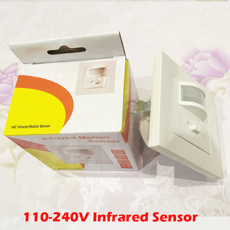 High Quality Adjustbale110-240V 50Hz 140 Degree PIR Infrared Motion Sensor Detector Movement light Switch free shipping YY high quality wall mounted pir motion sensor light switch max 600w load 9m max distance 1pc gs45