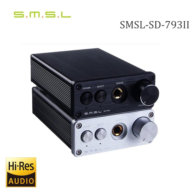 SMSL SD-793II DIR9001+PCM1793+OPA2134 24bit/96khz Coaxial/Optical DAC Headphone Amplifier Amp Aluminum Enclosure Black/Sliver rtm880n 793