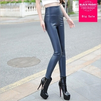 6XL 5XL plus size 2019 New fashion high quality PU leather pants women leggings significantly was thin pencil pants w1187