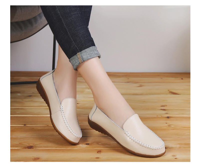 XY 518-2019 Genuine Leather Women's Shoes Soft Woman Loafers-10