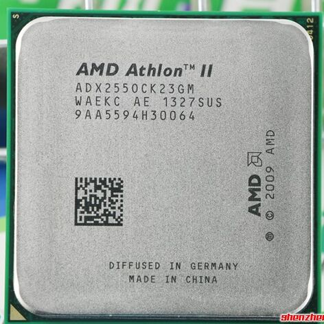 Livraison gratuite AMD Athlon II X2 255 CPU 3.1 GHz, 2 MB L2 Cache Socket AM3 PGA938, bureau CPU morceaux épars processeur