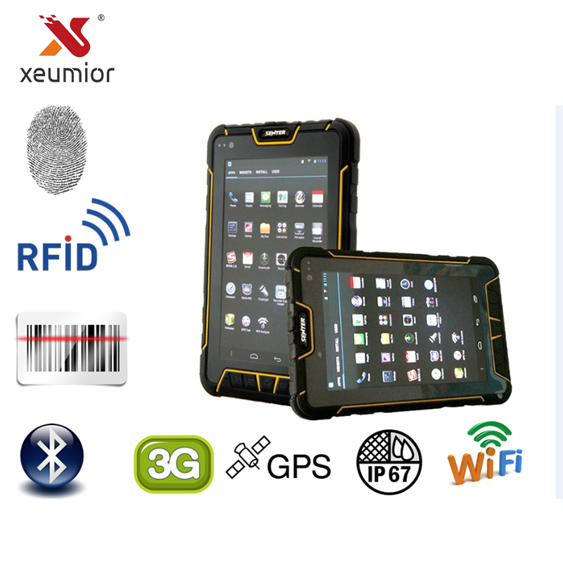 7 Inch Android Wireless Handheld Data Terminal PDA Fingerprint Reader 1D 2D Laser Barcode Scanner UHF HF LF RFID Data Collector industrial rugged handheld data collector wireless 4g mobile data terminal 1d 2d laser barcode scanner android pda device