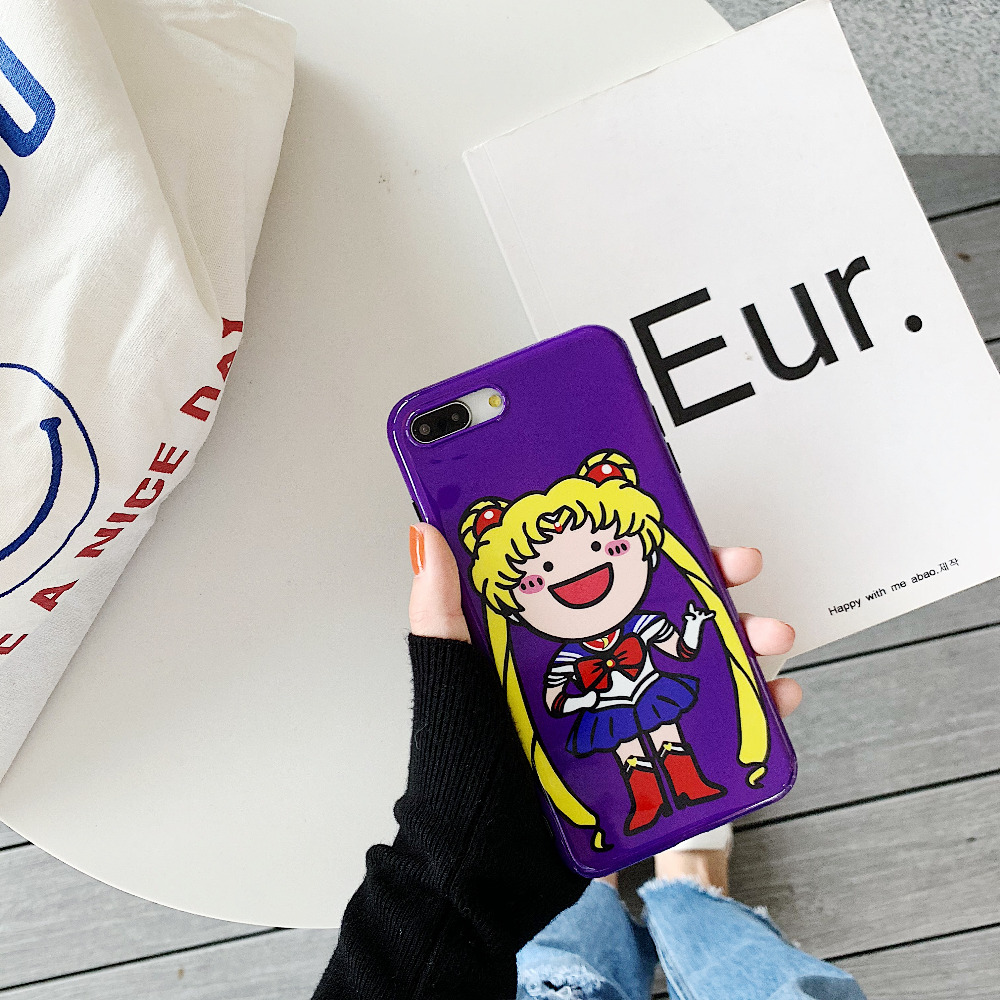 Fitted Cases Fashion Style Maosenguoji Funny Girl Cute Cartoon Sailor Moon Fashion Soft Mobile Phone Case For Iphone 6 6s 6splus 7 8 Plus X Xr Xs Max Cover Delicacies Loved By All Phone Bags & Cases