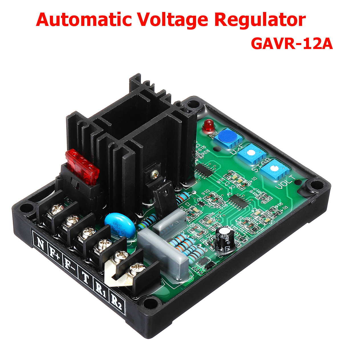 Automatic Voltage Regulator AVR GAVR-12A 220/400VAC Under Frequency Protection Soft Start Voltage Ramping EMI Suppression Stable generator automatic voltage regulator mx341 geneartor avr red with soft start voltage ramping