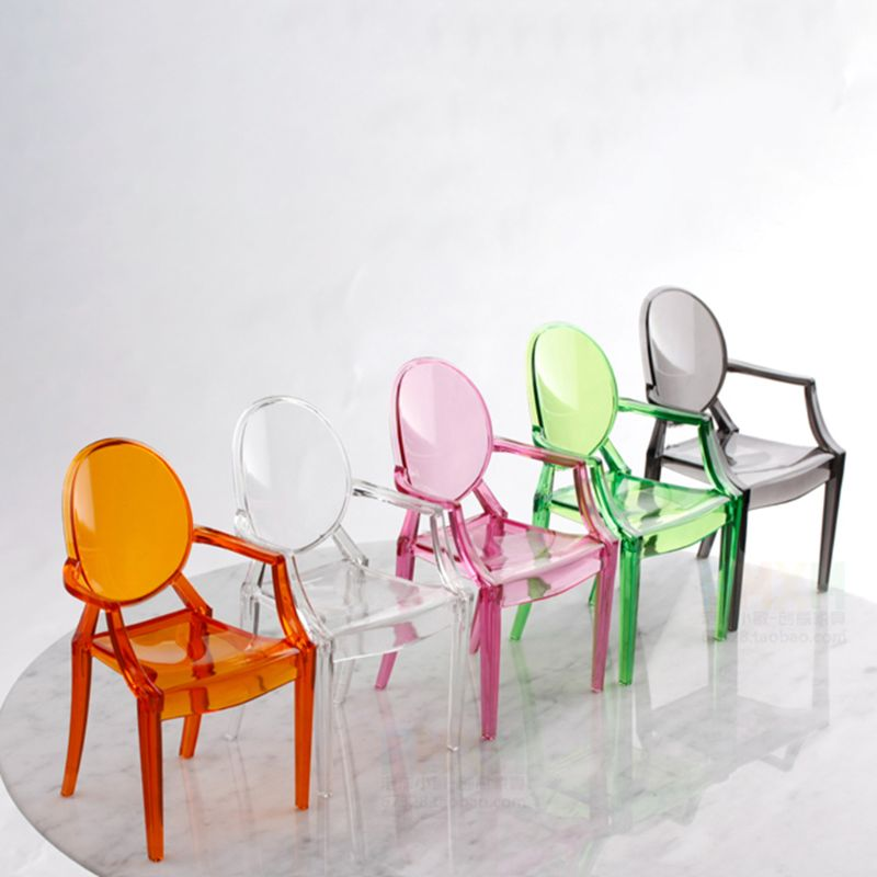 1:6 Dollhouse Miniature Mini Clear Plastic Chair Furniture Collection Gift Toy