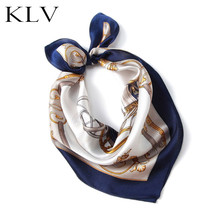 Printed Silk Scarf Women 100% Natural Wraps Shawls and Squares