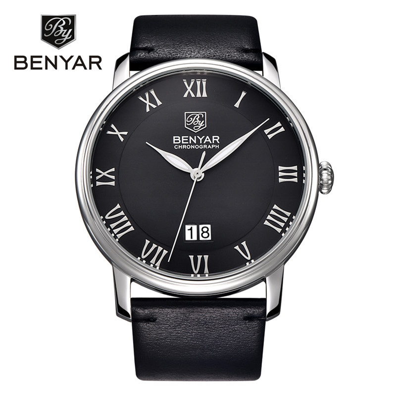 Reloj Hombre 2017 BENYAR Brand Fashion Casual Business Watches Men Date Waterproof Quartz Mens Watch Relogio Masculino reloj hombre top brand luxury simple fashion casual business watches men date waterproof automatic mens watch relogio masculino