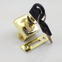 Hot 10Sets Single Glass Display Cabinet Locks Jewelry Showcase Shopping Malls Counter Glass Cabinet Locks No