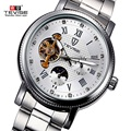 Luxury Men Watch Brand TEVISE Automatic Mechanical Watch Tourbillon Moon Phase Watch Calendar Waterproof Watch Relogio Masculino