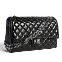 High Grade Fashion Brand Designer Real Sheepskin Handbags Classic Flap Chain Shoulder Bags Elegant Women Messenger