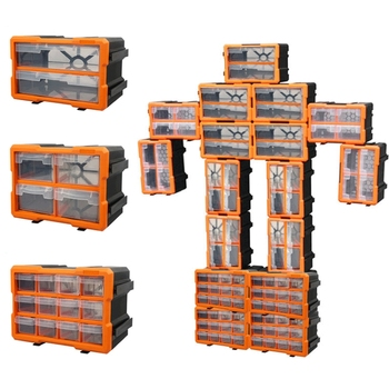 Component Box With Drawer Plastic Hardware Parts Box Screw Storage Box Compartment Workshop Organization Storage Tool Box