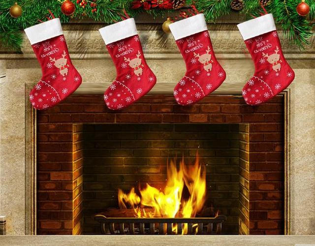 christmas decorations snowflake deer christmas stocking gift bag candy bags wrap long stockings socks festive party