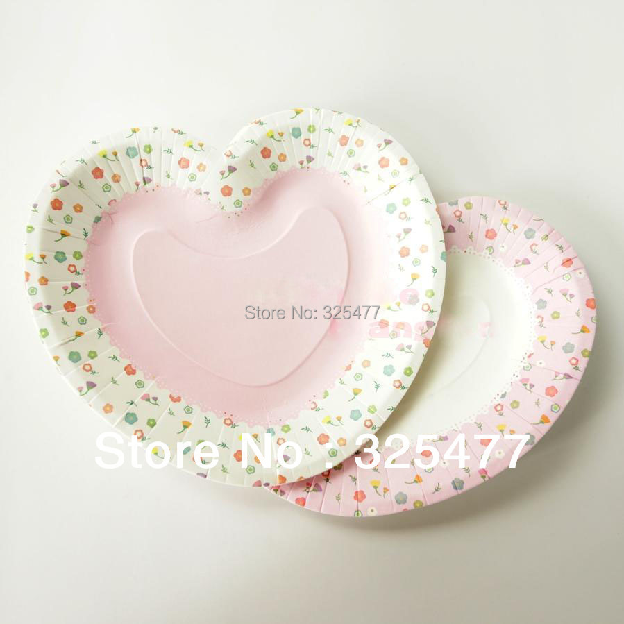 Disposal Valentine Day paper plate for wedding events and party use paper dish heart shaped tableware on Aliexpress.com | Alibaba Group & Disposal Valentine Day paper plate for wedding events and party use ...