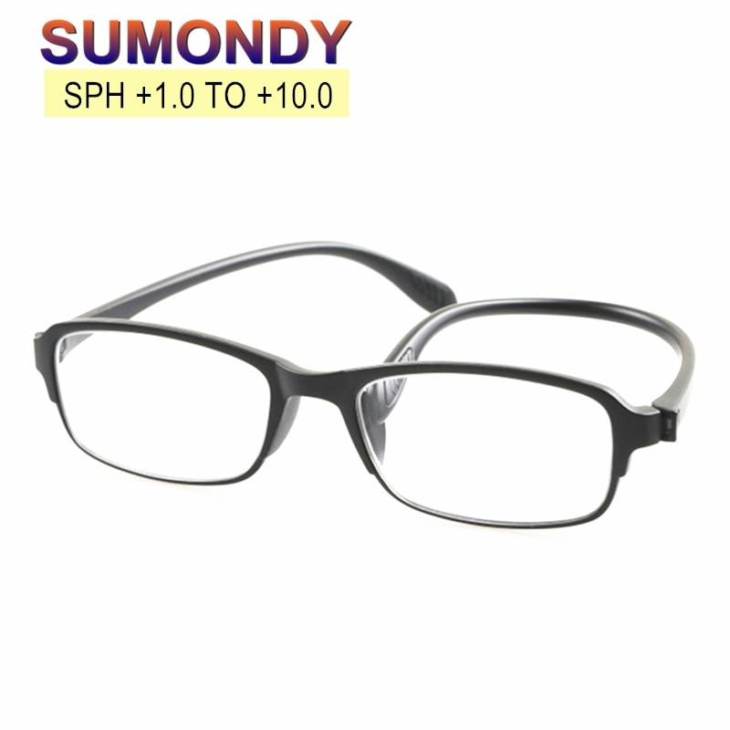 Очки для чтения SUMONDY с диоптриями от + 100 до 450 500 550 600 650 700 750 800 850 для мужчин и женщин, очки для дальнозоркости и пресбиопии R130