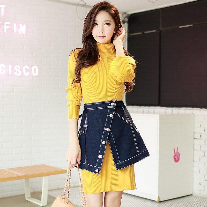 original 2017 brand saia cowboy autumn winter fashion mini denim skirt women wholesale