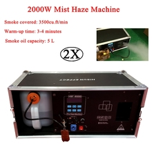 2Pcs/Lot 2000W Mist Haze Machine 5L Fog Machine Stage Effect Equipment DMX Sound Smoke Machine For DJ Bar Show Party Light цена 2017