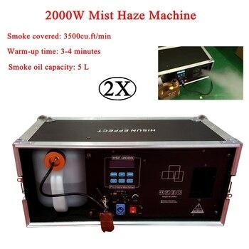 цена на 2Pcs/Lot 2000W Mist Haze Machine 5L Fog Machine Stage Effect Equipment DMX Sound Smoke Machine For DJ Bar Show Party Light