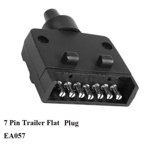 Image 1 - 12 V Auto Accessoires 7 Pin Platte Trailer plug 7 manier core pole truck vrouwelijke adapter Towing Elektra campe towing connector
