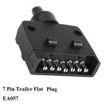 12V Car Accessories 7 Pin Flat Trailer plug 7 way  core pole  truck  female  adapter Towing Electrics campe towing  Connector