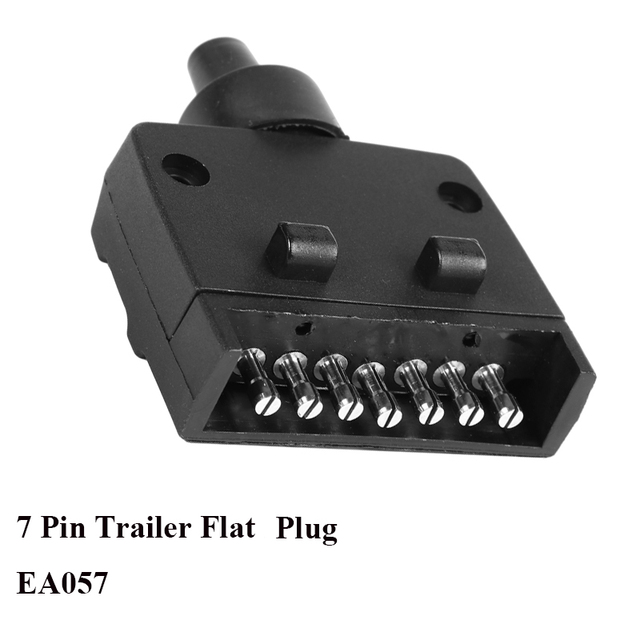 12v Car Accessories 7 Pin Flat Trailer Plug 7 Way Core