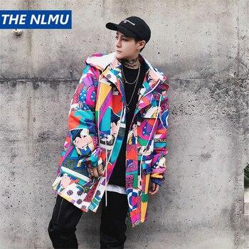 Street Style Windbreaker Jackets Mens 2018 Autumn Japanese Hip Hop Hooded Jacket Coats Fashion Streetwear Mens Clothes WS251