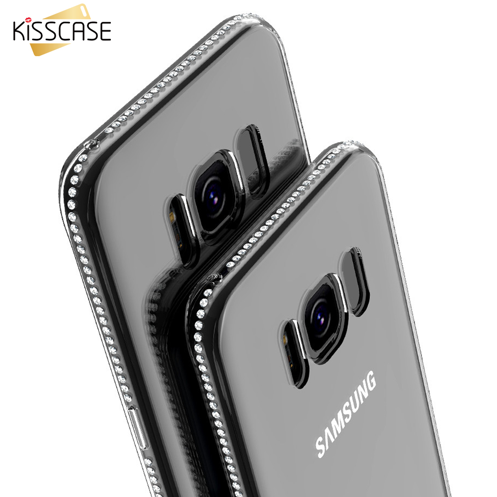 kisscase glitter bling rhinestone cases for samsung galaxy s8 s8 plus s7 s6 edge case for. Black Bedroom Furniture Sets. Home Design Ideas