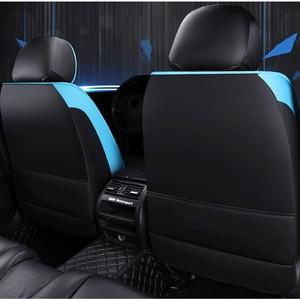 Image 3 - Funda de cuero para asiento de coche delantero y trasero, para hyundai, santa fe, toyota fortuner, lexus is 250, grand starex, ford smax