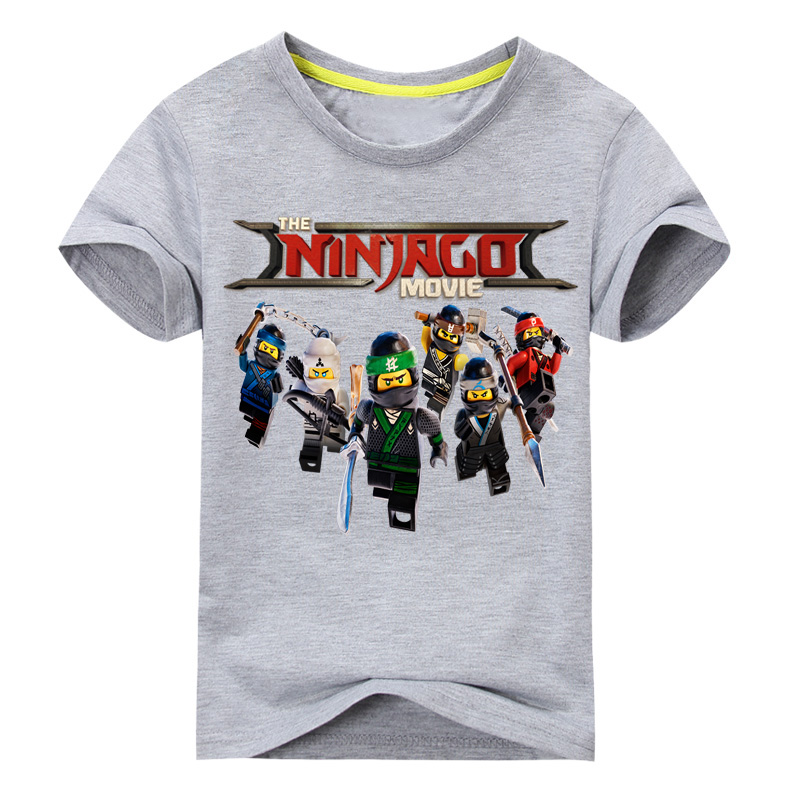 1-13Y Kids Summer Cartoon T-shirt Clothes Boys Shorts Ninjago Tees Tops Clothing Girls Casual Cotton T Shirt Costume Baby DX075 цена и фото